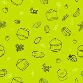 Padrão de frutas tropicais — Vetorial Stock