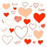 Love doodles set — Stock Vector