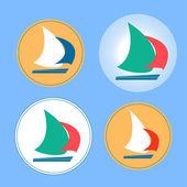 Yacht logos — Stock Vector