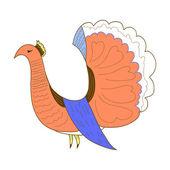 Ornamental dove bird — Stock Vector