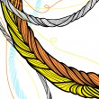 Hand drawn twisted ropes design - Stock Vector