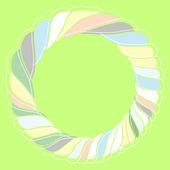 Round pastel frame — Stock Vector