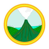 Volcano landscape — Stock Vector