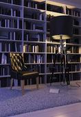 Black armchair — Stock Photo