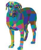 Mosaic dog — Stock Vector