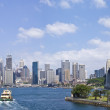 Sydney Harbour showing the Sydney Harbour Bridge and Opera House — Stock Photo