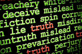Truth amongst lies — Stock Photo