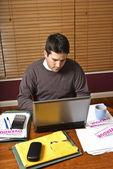 Man doing home finances — Stock Photo
