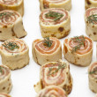 Smoked Salmon Roulade - Stock Photo