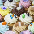 Delicious cupcake selection — Stock Photo