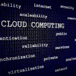 Stock Photo: Cloud computing 3D text
