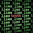 Stock Photo: Finding truth amongst lies