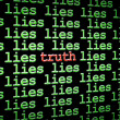 Finding truth amongst the lies — Stock Photo