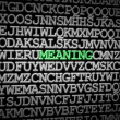 Foto de Stock  : Meaning revealed