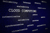 Cloud computing 3D text — Stock Photo