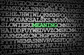 Meaning revealed — Stock Photo