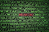 Searching for meaning — Stock Photo