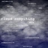 Cloud computing texthintergrund — Stockfoto