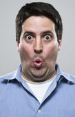 Amazed and excited man — Stock Photo