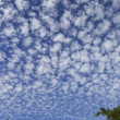 Huge sky with puffy clouds - Stock Photo