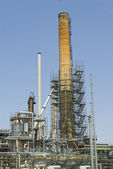 Old tower at an oil refinery — Stock Photo