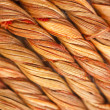 Diagonal twisted wooden fibres — Stock Photo