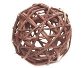 Decorative sphere made of bound wicker — Stock Photo