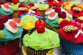 Spider novelty cupcake — Stock Photo