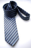 Striped satin tie — Stock Photo