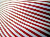 Stoffa cotone a righe bianche e rosse — Stock Photo
