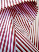 červené a bílé tkaniny čáry — Stock fotografie