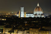 Florence cityscape by night — Stock Photo