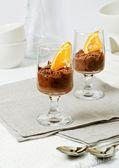 Chocolate mousse — Stock Photo