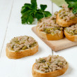 A fresh bread with tuna — Stock Photo