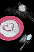 Powdered sugar — Stock Photo