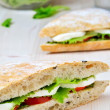 Royalty-Free Stock Photo: Tomato Mozzarella Sandwich