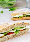 Tomaten-mozzarella-sandwich — Stockfoto