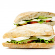 Tomato Mozzarella Sandwich - Stock Photo