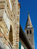 Bell tower of the St.Euphemia in Grado — Stock Photo