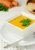 Carrot soup — Stock Photo