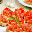 Stock Photo: Italisnack, bruschettwith tomato