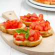 Stock Photo: Bruschettwith tomato