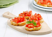 Italian snack, bruschetta — Stock Photo