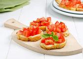 Italian snack, bruschetta — Stock Photo