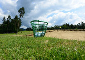 Golf balls in the basket — Stock Photo