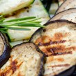 Stock Photo: Grilled aubergine