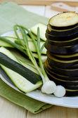 Slices of aubergine — Stock Photo