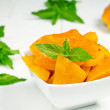 Spiced pumpkin in a white bowl — Stock Photo