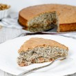 Poppyseed and walnut Pie — Stock Photo