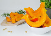 Fresh pumpkin slices — Stock fotografie